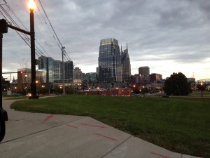 A corner shot heading into the city of Nashville, TN.