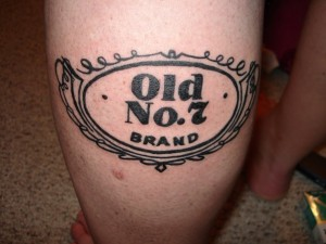 Hubby's Old No. 7 tattoo.