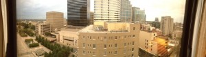 Hubby's panoramic view from our room.