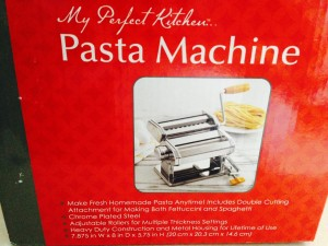 We watched the clip and decided we had to try! The pasta machine was only $35.00 (we will have the Kitchen Aid attachment one day for our mixer). Works well, tip for next time - 2 people, not just one.